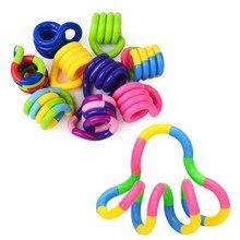 Deform corda unzipping ventilação brinquedos corda mágica torção quebra-cabeça jogo de brinquedo para crianças cor aleatória