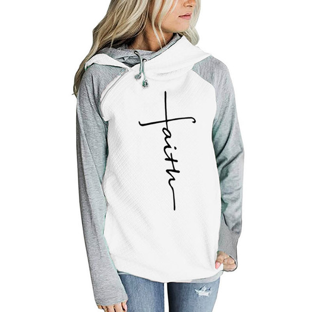 Faith Print long sleeve casual T-Shirt