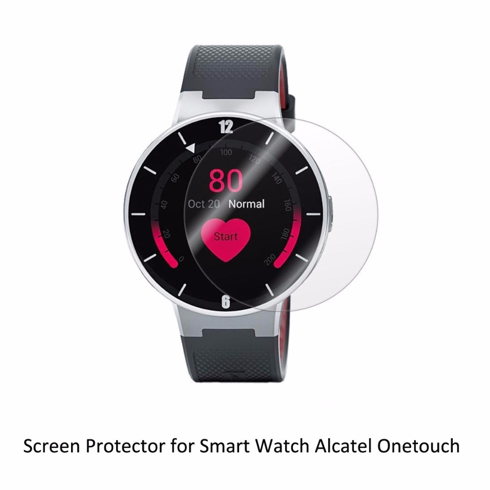 3* Clear LCD PET Film Anti-Scratch Screen Protector Cover for Alcatel Onetouch One Touch Sporting Smart Watch Accessories alcatel one touch 6039y idol 3 mini grey