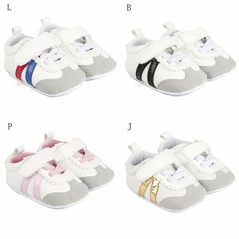 Newborn Baby Boys Girls Sports Shoes First Walkers Toddlers Casual PU Sneakers Sports Running Hook Loop Shallow Shoes 0-1Y Multan