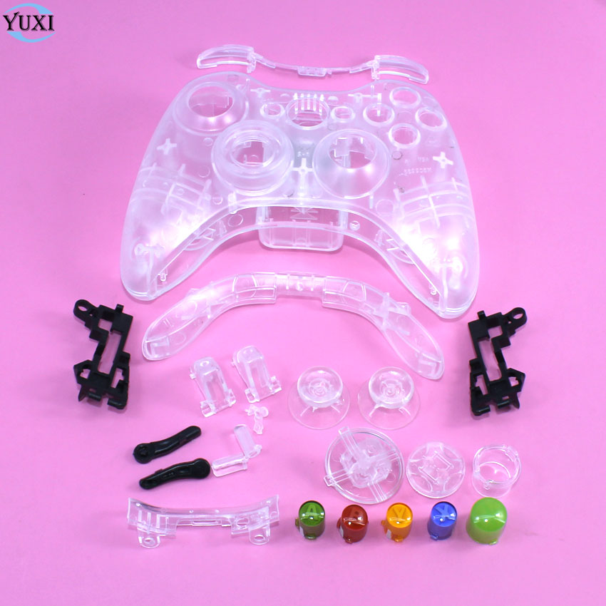 YuXi Wireless Game Controller Hard Case Gamepad Protective Shell Cover Full Set With Buttons Analog Stick Bumpers For XBox 360