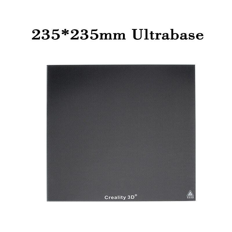 купить Creality 3D Printer 235*235*3MM Ultrabase Black Carbon Silicon Crystal Glass Platform Build Hotbed For Ender-3 3d printers parts по цене 1827.93 рублей