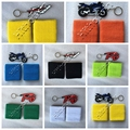 21 colors Motorcycle Front Brake Reservoir Sock Oil Fluid Tank Cover Sleeve+3D Rubber Keychain Key Chain Ring for YAMAHA R1 R6