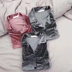 Image 2 - JRMISSLI hohe qualität 5XL Herbst Winter Warme Pyjama Set Frauen pyjamas Tiefe Gold Samt Homewear Pijama mujer Elegante nachtwäsche