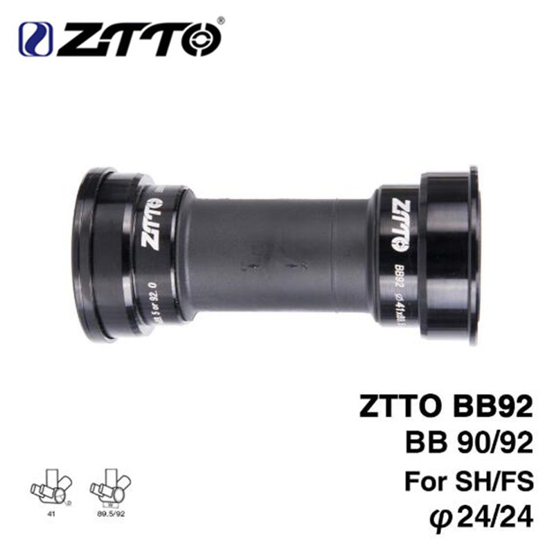 ZTTO BB92 BB90 BB86 MTB Road Mountain Bike Bicycle Press Fit Bottom Brackets For Parts Prowheel 24mm Crankset Chainset