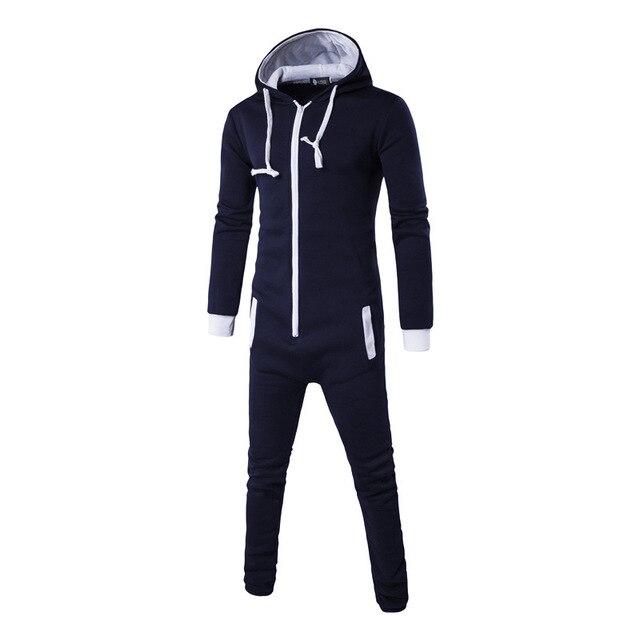 162cbf4f3f323 Centuryesatr Tmall Qualité Pyjamas Onesie Pour Homme Zipper Pijama  Masculino Erkek Pijamas Hombre Invierno Bleu Pyjama Homme Hommes