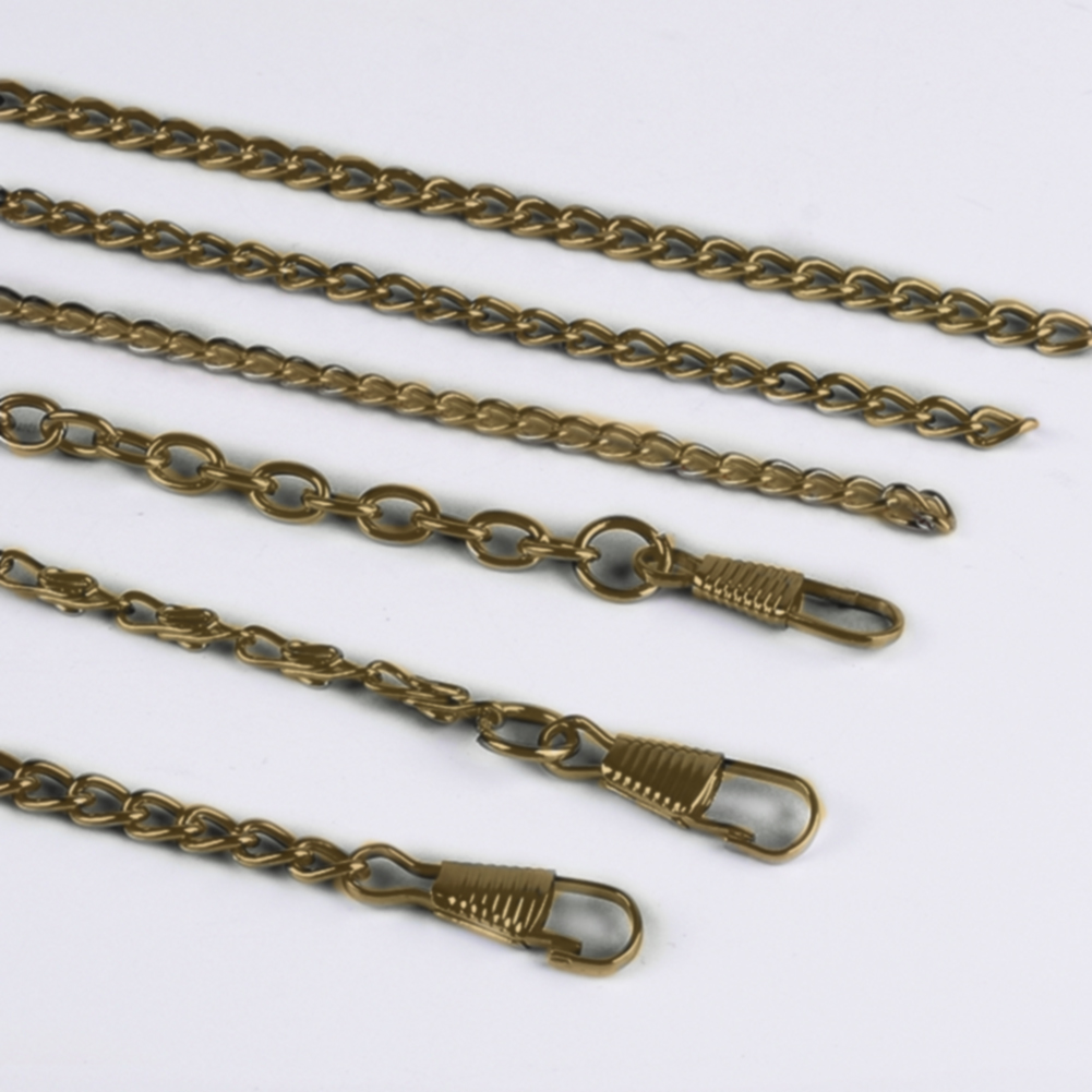 10pcs Retro Hooked Long Bag Chain Purse Accessories Metal Antique Brass Replaceable Fashion Easy Install Durable Practical DIY