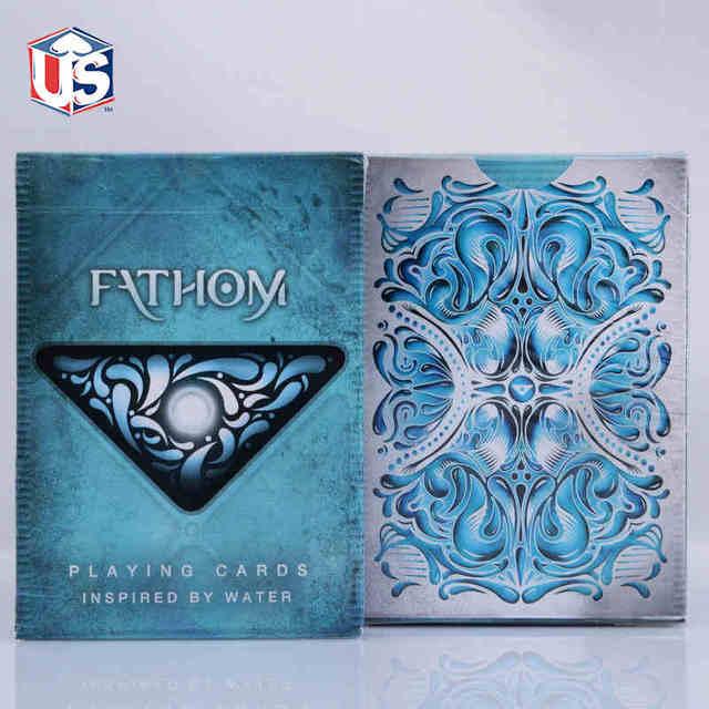 1 DECK Fathom Premium Ellusionist Deck Bicycle Playing Cards Magic Tricks New USPCC Magic Card