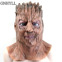 цена GNHYLL Latex Tree demon Party Mask masquerade Halloween mask Silicone face mask Festival Party Props Cosplay Costume Masks