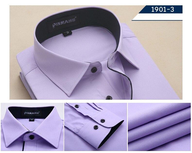 Новое поступление, весенняя и осенняя мужская брендовая одежда, одноцветная мужская приталенная рубашка с длинным рукавом, мужские рубашки, деловые рубашки