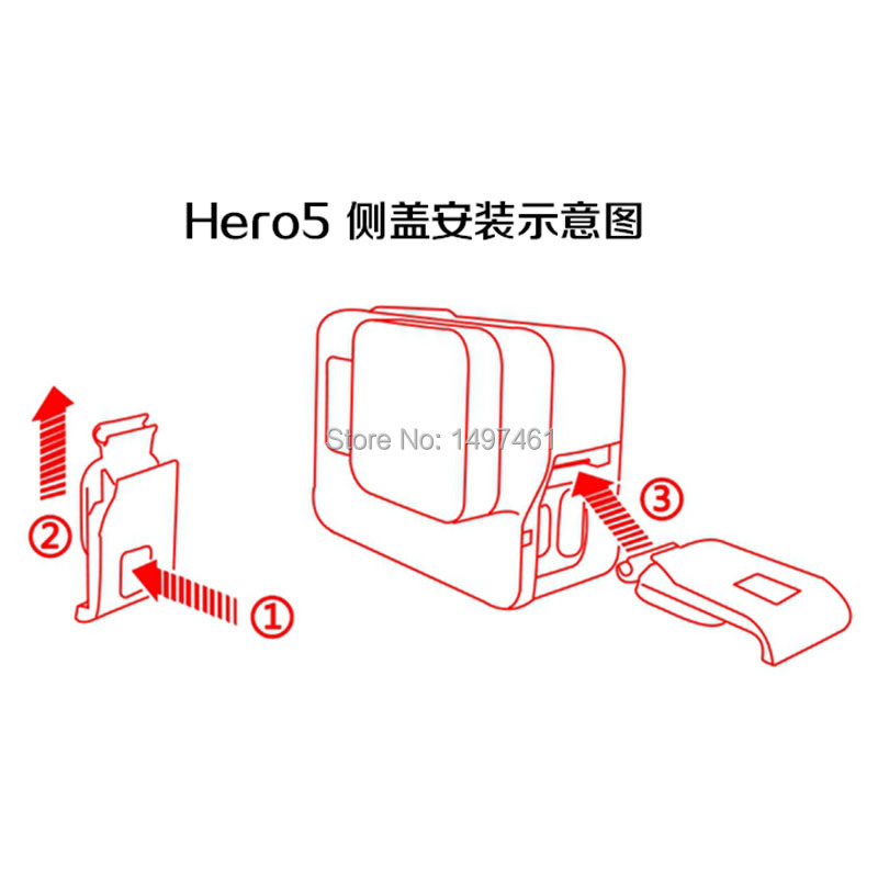 Left Side USB + HDMI Interface Lid Door Cover Repair Parts For GoPro Hero5 Black Action Camera