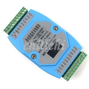 Image 4 - 6 דרך OLED PT100 PT1000 CU50 CU100 NI1000 טמפרטורת מודול רכישת טמפרטורת משדר MODBUS RTU