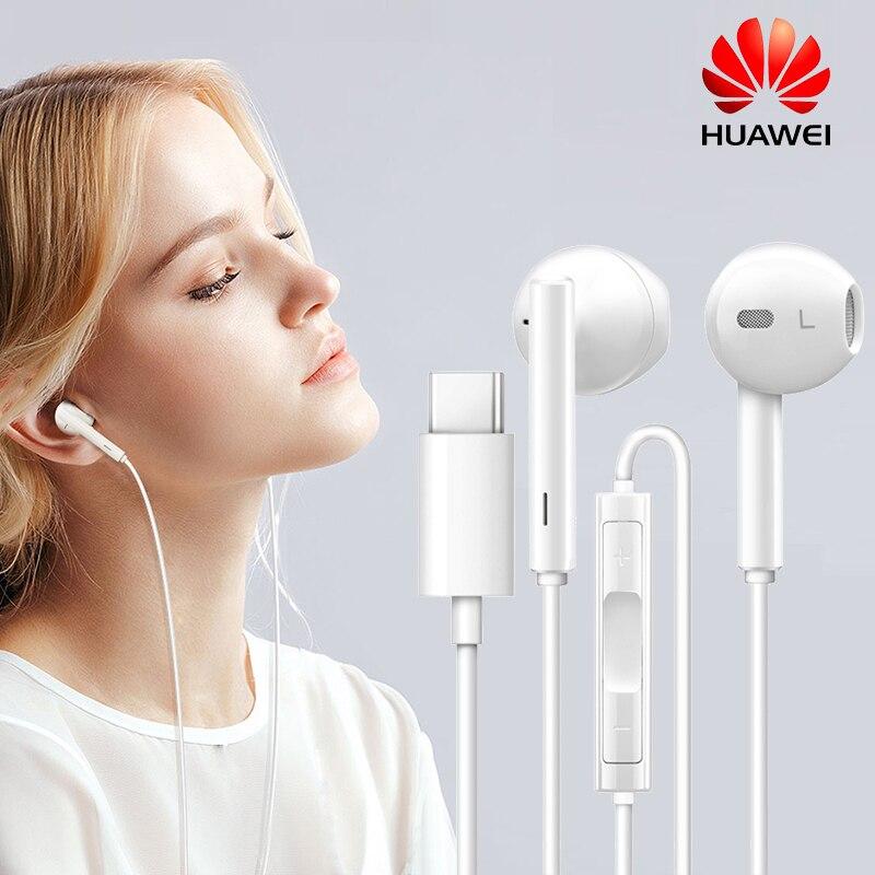 HUAWEI Original CM33 Earphone USB Type C In Ear Hearphone Headset Mic Volume HUAWEI Mate 10 20 X RS P20 Pro Note 10 XIAOMI 8 6