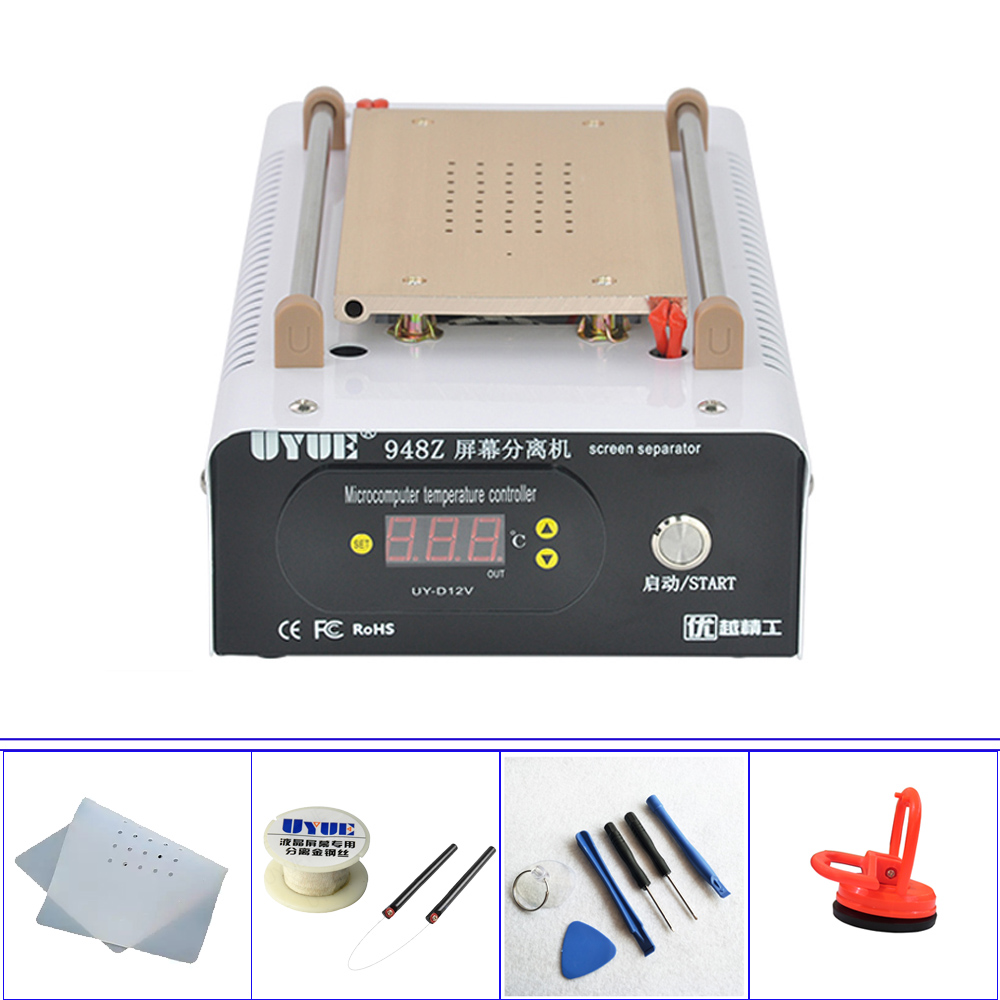 Built-in Pump Vacuum Metal Body Glass LCD Screen Separator Machine For Max 8 inch LCD Display Separator Uyue 948Z 8 inch lcd separator ly 947 v 3 pro inner vacuum pump built in uv solid light for all phone