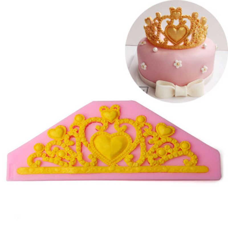 3D Princess Crown Форма силиконовые формы торт DIY ручной работы помадка шоколадный