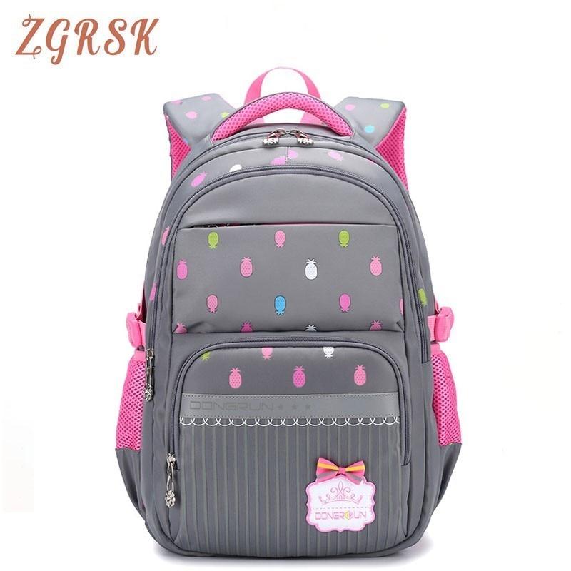 Female Nylon School Backpack Bag For Girls Children Backpack Schoolbag Students Backpacks Bagpack Grade 3-6 Back Pack Bag