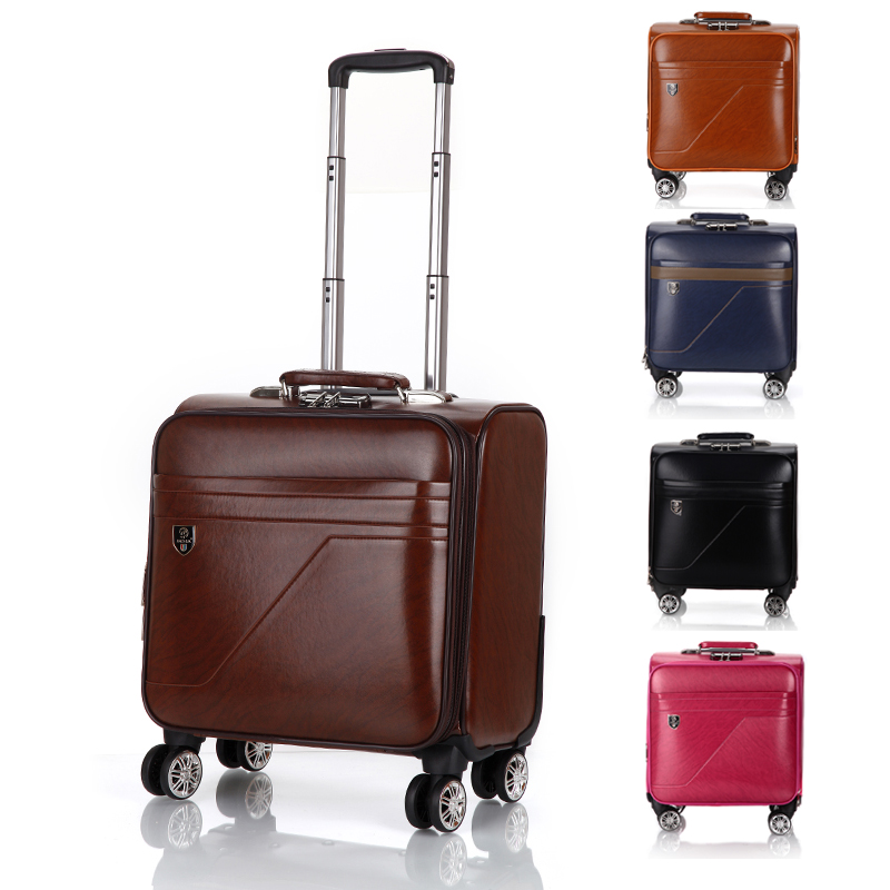 Retro Universal Wheel Trolley Case,Waterproof Suitcase,16