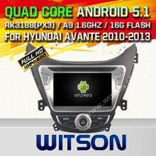 WITSON Android 5.1CAR DVD GPS CAR STEREO for HYUNDAI ELANTRA/i35/AVANTE Capacitive touch screen Cortex A9 Qual-core1.6G,16GB Rom