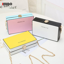 Women Small Candy Color Box Handbag Evening Chain PU Leather Shoulder Bag Female Fashion Designer New Mini Phone Crossbody Purse цена в Москве и Питере
