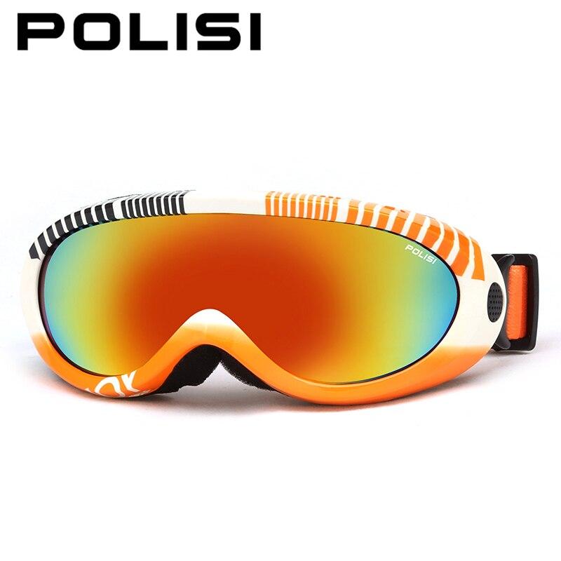 Polisi snowboard skate óculos de esqui de inverno das crianças das crianças uv400  óculos de esqui snowmobile meninos meninas anti-nevoeiro óculos de esqui ... 356d4d599e