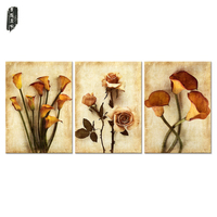 Frameless Canvas Art Oil Painting Flower Painting Design Home Decor Print Wall Art Modular Picture for Living Room Wall 3 Panel