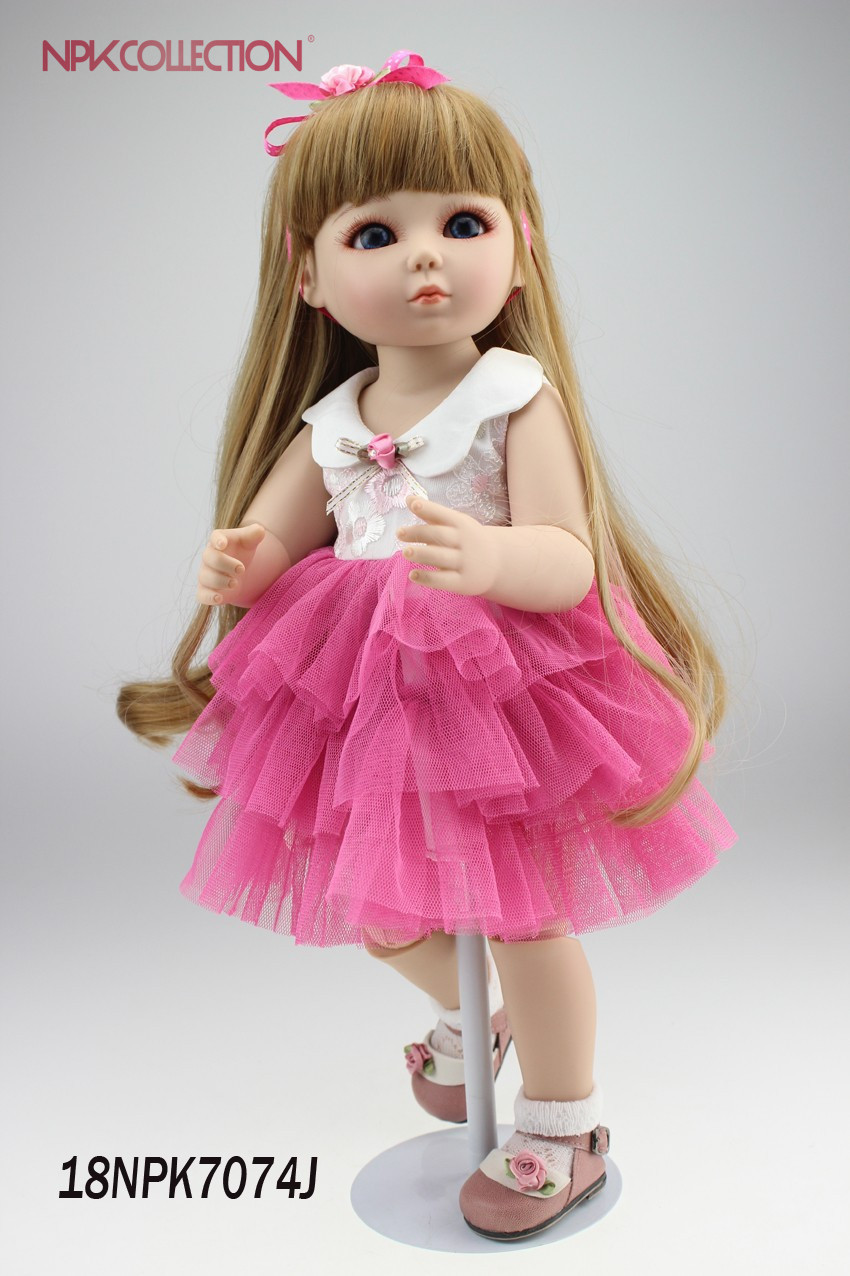 NPK 2017 new 18inch beautiful SD/BJD doll handmade doll poseable with joints gifts for your daughterNPK 2017 new 18inch beautiful SD/BJD doll handmade doll poseable with joints gifts for your daughter