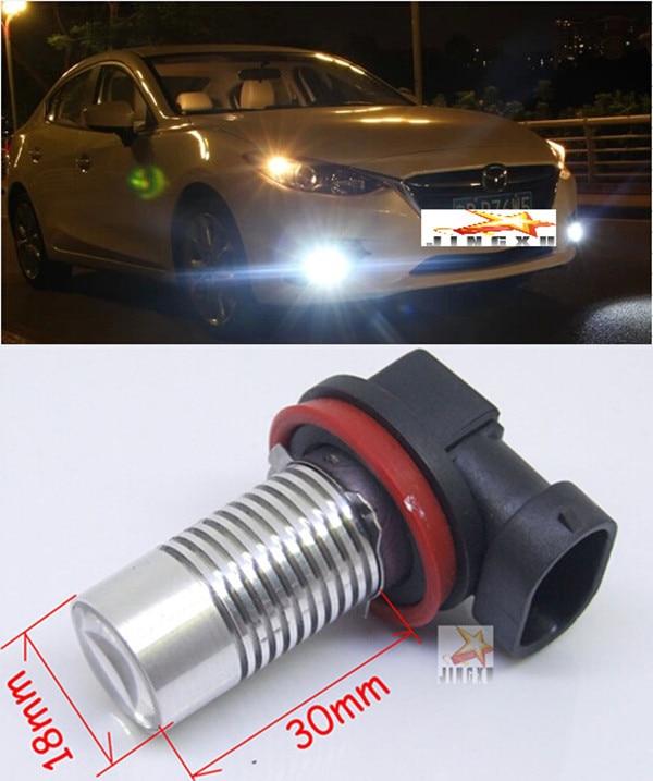 2 x For Mazda 3 Axela 2014    H11 CREE  Chips 5W   LED Car Fog Light Bulbs Front Fog Lamps  12V