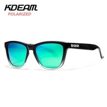 KDEAM 2018 Classical Sunglasses Men Frog Sun Glasses Women Polarized Shades masculino 5 Colors UV400 With Case KD0717