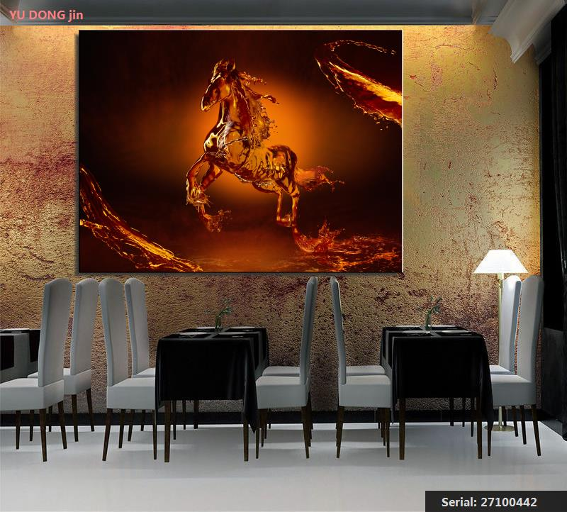 Dutiful Animal Abstract Oil Painting Drawing Art Spray Unframed Canvas Kitchen Kitchen Brass Square Kitchen Wall Technical27100442 Painting & Calligraphy