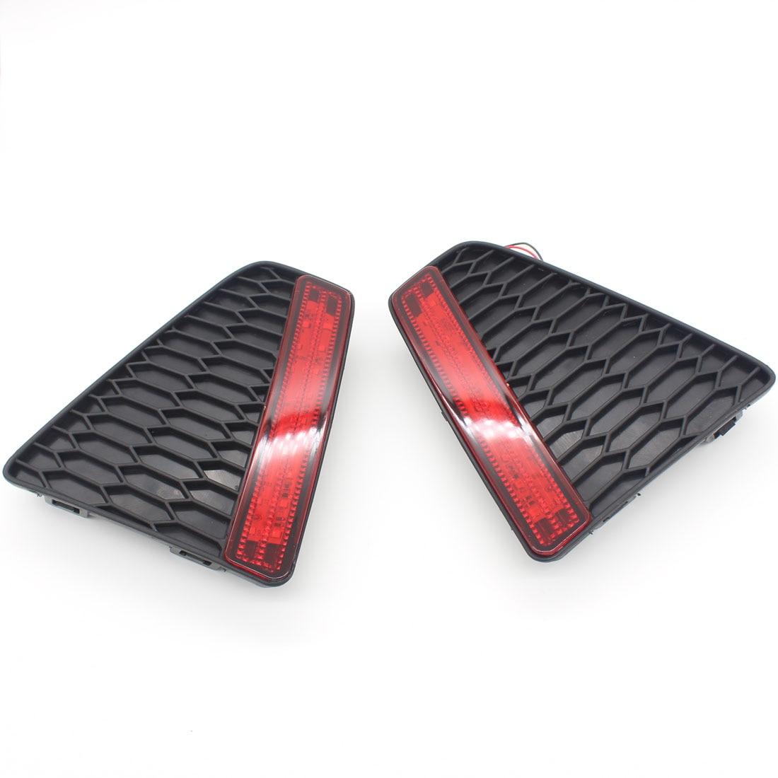 Dongzhen Backup Tail Rear Bumper Lamp LED Reflector stop Brake light fog lamp Fit For Honda Fit 2014-2015 car styling