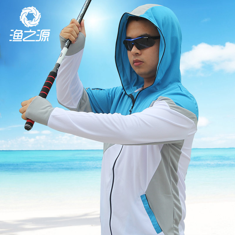 ФОТО Summer fishing clothing sunscreen breathable outdoor male long-sleeved cardigan thin quick-drying fishing clothes Fishing vest