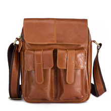 New leather men's single-shoulder oil and wax leather handbag head layer cowhide men's single-shoulder oblique bag spot 8196 oblique shoulder ruffle trim knot cuff spot blouse