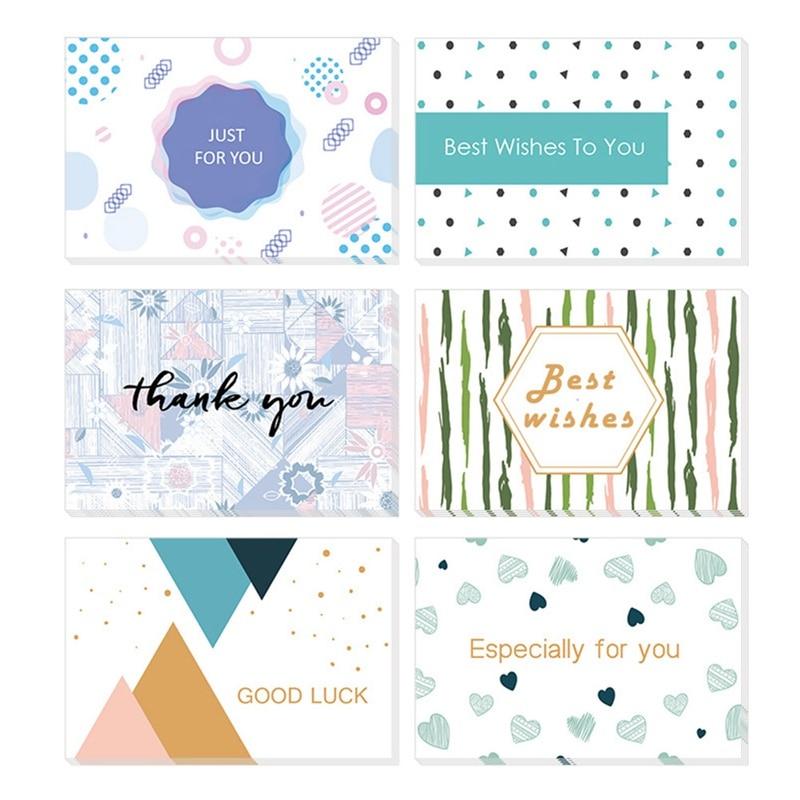 GüNstiger Verkauf 6 Teil/satz Diy Papier Leere Karte Gold Folie Buch Karten Geschenk Gruß Mutter Der Tag Geschenk Karte Business Danke Karte