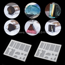 Jewelry Hole Pendant Casting Making Mold Tools Silicone Resin Hand Craft Set DIY -B119