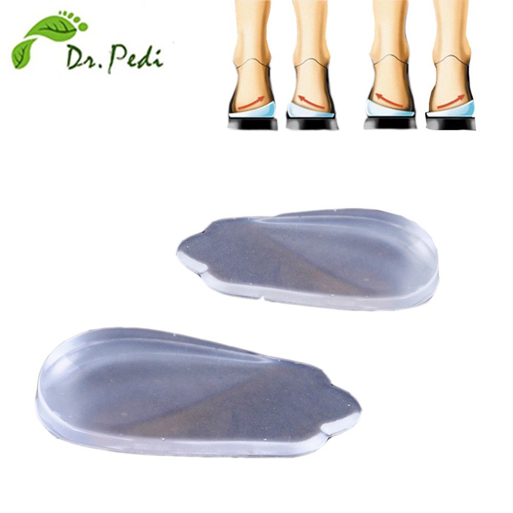 silicone orthotics O/Xtype legs correction inside or outside gel insole orthopedic support insoles shoes pad heel pillow cushion