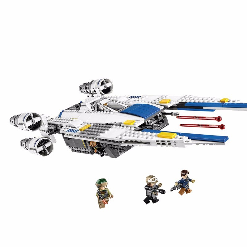 05054 LEPIN 679Pcs Rebel U Wing Fighter Jets Model Building Blocks Compatible 75155 Classic Enlighten Figure Toys For Children конструктор lepin star plan истребитель повстанцев u wing 679 дет 05054