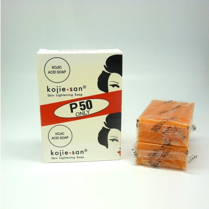2x65 г Kojie San отбеливание кожи осветляющее отбеливание Kojic кислота глицериновое мыло Бесплатная доставка