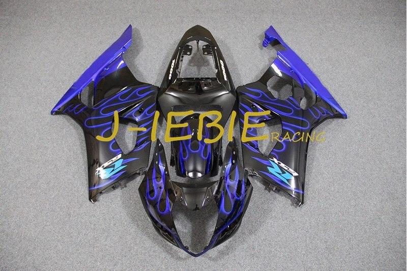 Black blue fire Injection Fairing Body Work Frame Kit for SUZUKI GSXR 1000 GSXR1000 K3 2003 2004
