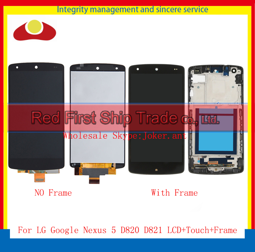 High Quality 4.95 For LG Google Nexus 5 D820 D821 Full Lcd Display Touch Screen Digitizer Assembly Complete With Frame Black new lcd touch screen digitizer with frame assembly for lg google nexus 5 d820 d821 free shipping