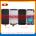 "High Quality 4.95"" For LG Google Nexus 5 D820 D821 Full Lcd Display Touch Screen Digitizer Assembly Complete With Frame Black"