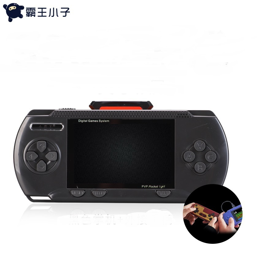 Powkiddy Retro Portable FC TV Mini Handheld Game Console 8-Bit 3.2 Inch Color LCD Game Player Built-in 300 games for Boy Gifts image