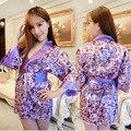 Japanese women's Sakura kimono size sexy underwear Nightgown cardigan wind uniforms suit adult pajamas