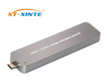 Portable Retractable Type-C USB 3 1 to M 2 NVME PCIE SSD Mobile Drive 10Gbps Aluminium Alloy m2 M key PCI Express HDD Enclosure cheap XT-XINTE 2280 Other 1 8 Aluminum F28522
