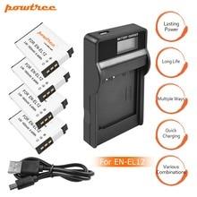 цена на 4X EN-EL12 ENEL12 EL12 Battery+Battery Charger LCD for Nikon Coolpix S9700 S9500 S9400 S9300 S9100 S8200 S8100 S8000 S6300 L15