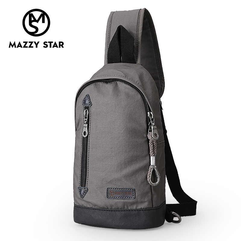 Mazzy Star Canvas Men Women Chest Pack Crossbody Bag Casual Travel Rucksack  Chest Bag Small Sling 04383f60ec8ae