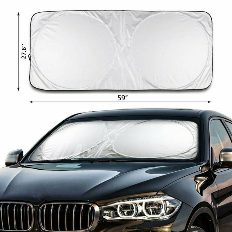 Foldable Large Sun Shade Blinds Truck Front Rear Car Windshield Visor Block Cover Window UV Protection Shield Film Reflective