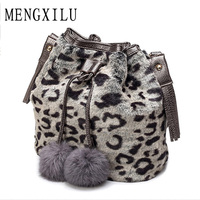 DIZHIGE Brand Bucket Luxury Handbags Fur Ball Shoulder Bag Ladies Hand Bags Cute Women Bags Designer