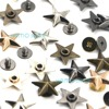 20pcs Metal Star Rivets Studs Spikes Spots Buttons for Leather Belt Craft Bag 4 Colors