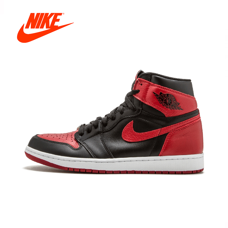 купить Official Original Nike Air Jordan 1 Retro High OG AJ1 Black and Red Men's basketball shoes Outdoor sports 555088-001 по цене 20569.24 рублей