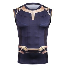 2018 Movie Avengers 3 Destroy the bully Infinity War Thanos Cosplay T-Shirts Superhero Polyester Tee Shirts Tops